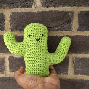 Amigurumi Cacti. Make these crochet bookends to decorate your home! | 300x300