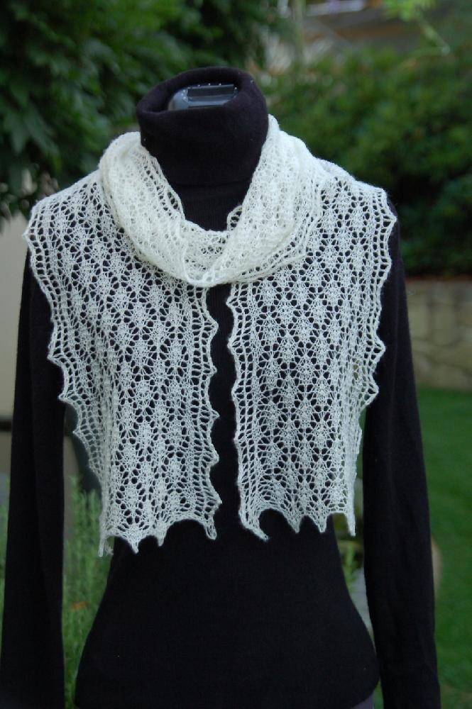 The Ulladulla Easy Lace Scarf Knitting pattern by Mrs Rose ...