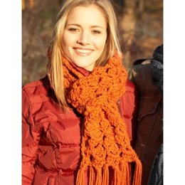 Easy Scarf to Crochet in Bernat Softee Chunky