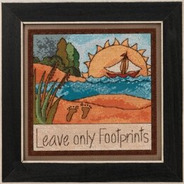 Mill Hill Leave Only Footprints Cross Stitch Kit - 7in x 7in