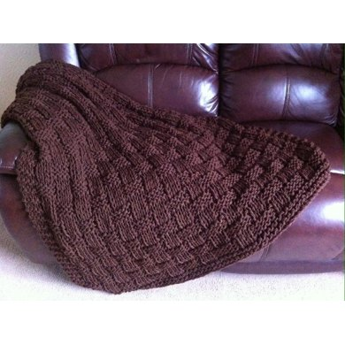 Chunky Basket Weave Blanket Throw Knitting Pattern By Daisy Gray