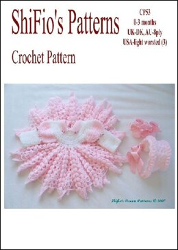 Crochet Pattern baby jacket and hat UK & USA terms #53
