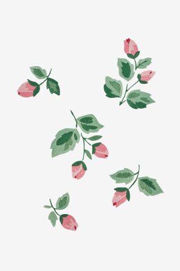 Rose Buds in DMC - PAT0294 - Downloadable PDF