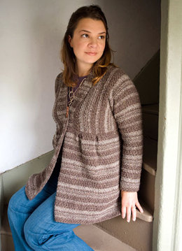 Celsian Cardigan in Berroco Blackstone Tweed