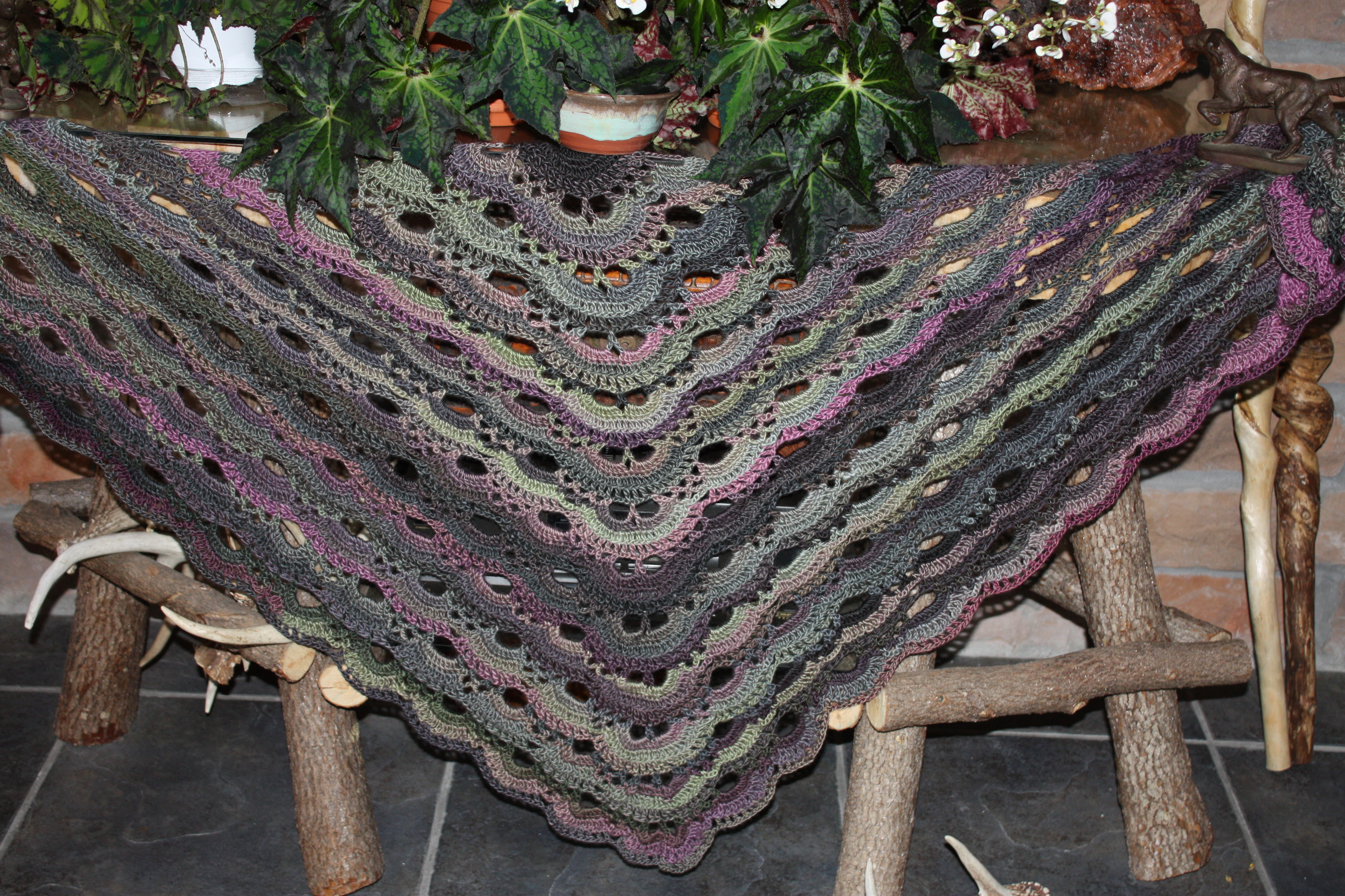 German Scalloped Triangle Shawl Crochet Project By Mary S Lovecrochet