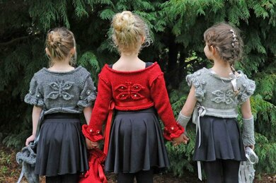 Butterfly Ballerina Cardigans With Accessories