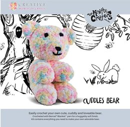 Creative World Of Crafts Knitty Critters - Cuddles Teddy Bear Crochet Kit - Multi
