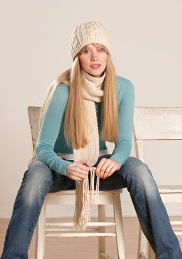 Worsted Scarf & Hat in Blue Sky Fibers Worsted Hand Dyes - Downloadable PDF