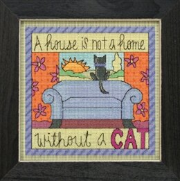 Mill Hill Without a Cat Cross Stitch Kit - 17.78cm x 17.78cm