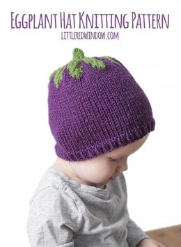 Adorable Eggplant Hat