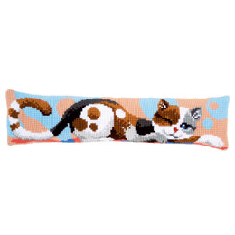 Vervaco Cat Draught Excluder Chunky Cross Stitch Kit - 80cm x 20cm