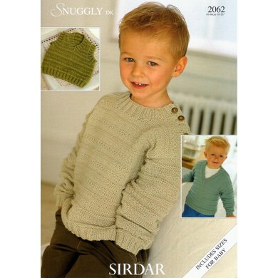 Sweaters and Slipover in Sirdar Snuggly DK - 2062