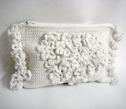 Wedding Clutch with lots of flowers