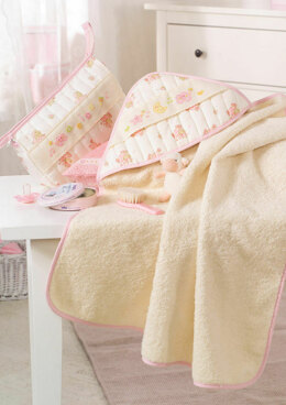 Made with Love - Pink Baby Sponge and Towel in Anchor - Downloadable PDF
