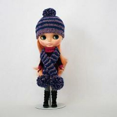 Stripey Hat and Scarf for Blythe