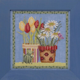 Mill Hill Blooms and Blossoms - Tulips and Daisies - 7in x 7in