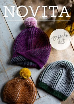 Brioche Hat in Novita Nordic Wool - Downloadable PDF