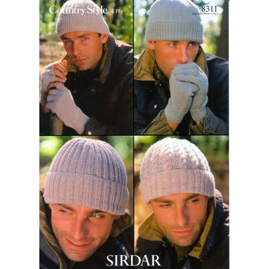 Hats and Gloves in Sirdar Country Style 4 Ply - 8311
