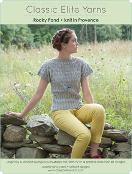 Rocky Pond Top in Classic Elite Yarns Provence - Downloadable PDF
