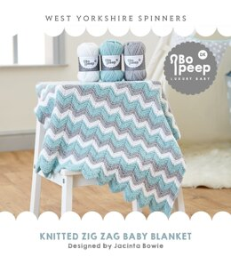 Zig Zag Knitted Blanket  in West Yorkshire Spinners Bo Peep Luxury Baby DK - WYS0018 - Downloadable PDF