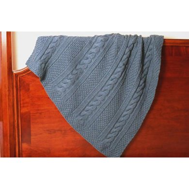 Cabled Baby Afghan