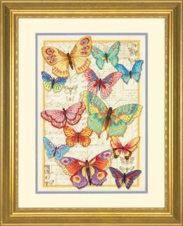 Dimensions Butterfly Beauty Cross Stitch Kit - 25.4cm x 35.5cm
