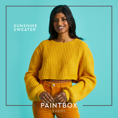 Sunshine Sweater - Free Sweater Crochet Pattern For Women in Paintbox Yarns Cotton 4 Ply by Paintbox Yarns