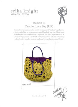 Crochet Lace Bag in Erika Knight Maxi Wool