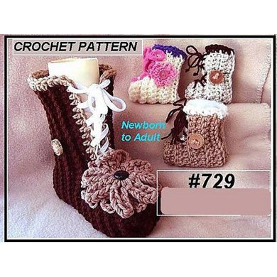 729 BOOTIES OR SLIPPERS, Baby, child, adult