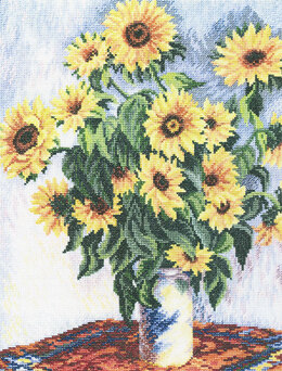Rto Sunflowers Cross Stitch Kit - Multi