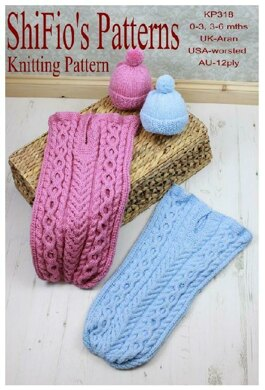 Kniting pattern Cuddle Cable Cocoon  #318