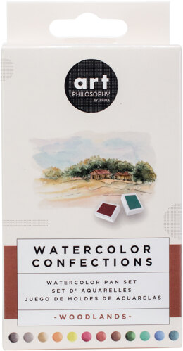 Prima Marketing Prima Watercolor Confections Watercolor Pans 12/Pkg - Woodlands