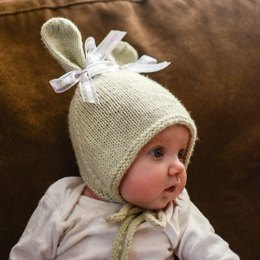 Bunny Hat with Chin Ties