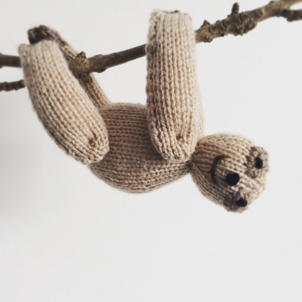 Knitting Patterns Plush Toys : Sloth toy plushie amigurumi Knitting pattern by Emma Whittle