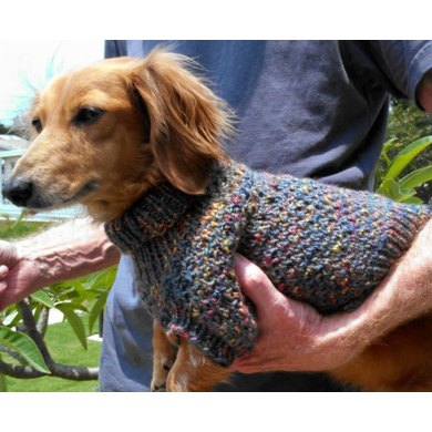 Lena's Cozy Brioche Miniature Dachshund Dog Sweater
