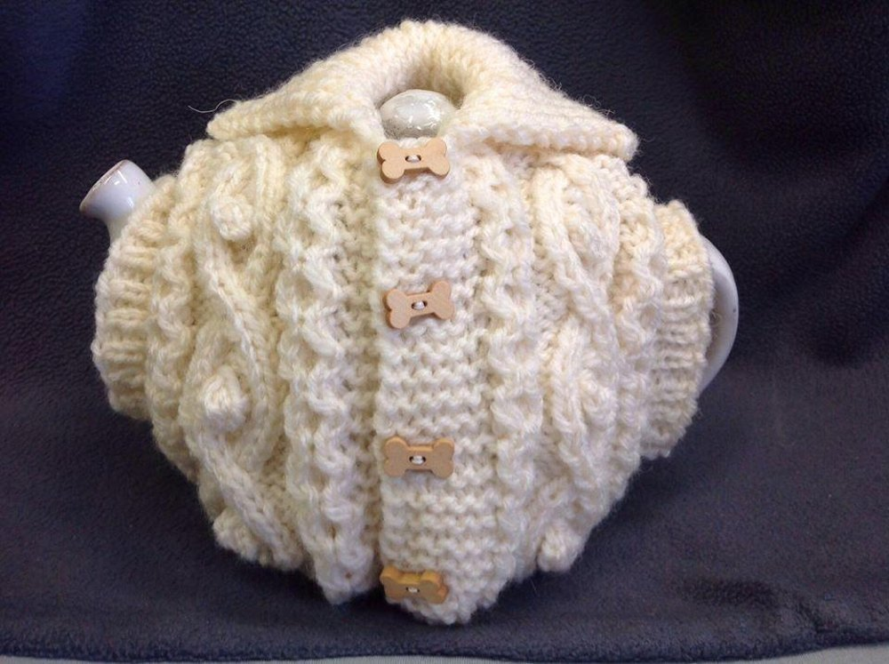 Aran Waistcoat Tea Cosy Without Pockets Knitting Pattern By The