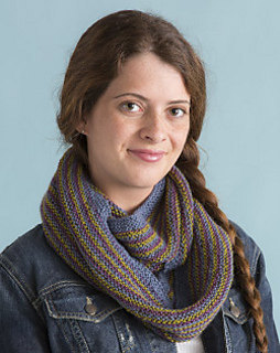 Garter Stripe Cowl in Classic Elite Yarns Silky Alpaca Lace
