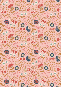 Lewis & Irene Chieveley Country House Floral on Pink Fabric Cut to Length
