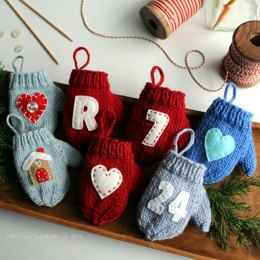Felt Applique Mitten Christmas Ornament