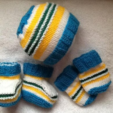 Cool Brights baby Hat set