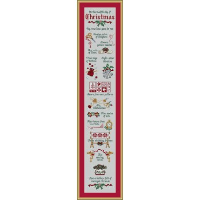 Sue Hillis Designs Stitcher's Days of Christmas - L450 - Leaflet