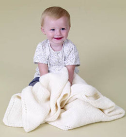 Baby Love Diagonal Baby Blanket in Lion Brand Pound Of Love - 60241