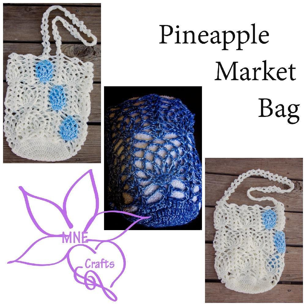 Pineapple Market Bag Crochet Pattern By Amanda Evanson Crochet