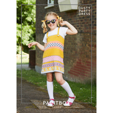 Dusty Party Dress in Paintbox Yarns Simply DK - Downloadable PDF