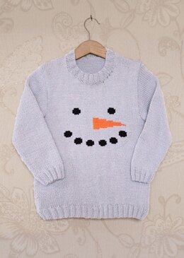 Intarsia - Snowman Face Chart - Childrens Sweater