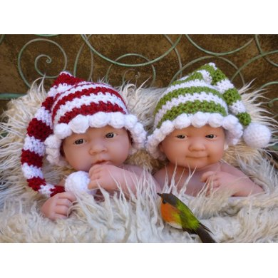 Long/Short Tailed Wee Willie Winkie Style Crocheted Christmas/ Winter Hat Pattern