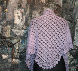 Diamond Dazzler Shawl in UK Alpaca 4ply - Downloadable PDF