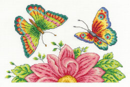 DMC Butterfly Garden 14 Count Cross Stitch Kit - 21.6cm x 17.8cm - BK1545