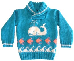 Whale, Fish and Waves Sweater