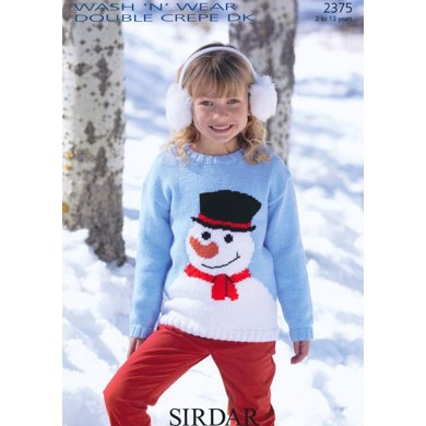 Snowman Sweater in Sirdar Wash n Wear Double Crepe DK - 2375